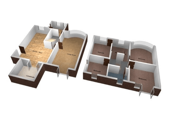 Domestic 2d 3d Floor Plans For Residential Properties